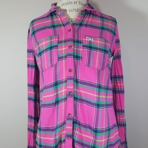 Gilly Hicks plaid shirt size M